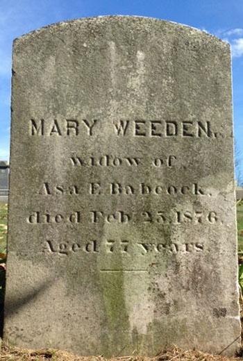 Weeden, Mary