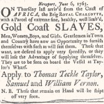 Vernon Slave Sale